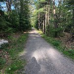Hard packed gravel roads that are well maintained and safe traveling and exercise.