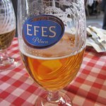 Efes beer is readily served there