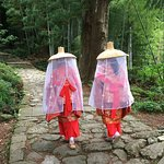 Pilgrims in period costume