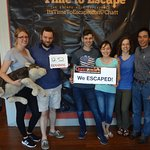 No one had done an escape room before, but they beat this room easily! Great job!!