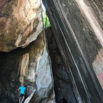The leaning cave/rock