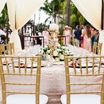 Wedding reception on the Pool Island Venue option