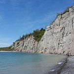Scarborough Bluffs as seen from Bluffer's Park beach
