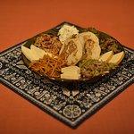 traditional georgian starter platter