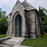 The outside of that same mausoleum.