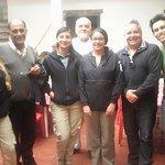 Daniela , Aura y Mayra de Parque Nacional Chingaza y los turistas Antonio, Edgar y Esteban