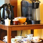 Coffee and tea available to all guests in addition to a full continental breakfast