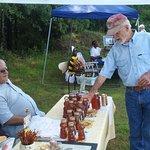 William Stprey samples the honey