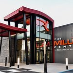 The entrance to the Miller Center