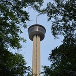 The Tower of the Americas is the crown jewel of San Antonio's skyline, near where the tour ends.