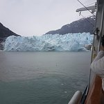 While you can get so close to the glacier on the cruise and a lot of times some of it will fall