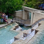The River Walk is filled with beautiful waterfalls, many of which Amigo Free Walking Tours shows