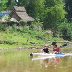 Kayak paddling in Dotthawaddy River and could experience local cuisine cook while village trekki