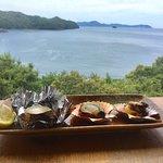 海鮮丼と牡蠣。まいうー!