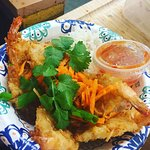 Coconut shrimp with Chilli sauce