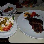 Ribeye steak medium well