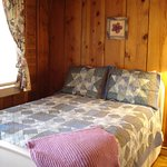 Tranquility, a rustic cabin Courtyard room w/ 2 full beds, water closet, kitchenette & pet frien