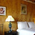 Faith, a rustic cabin Courtyard room w/ queen bed, water closet, shower, kitchenette & pet frien