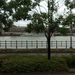 Passando pelas margens do Rio Danúbio - lado Buda.