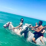 Swimming and riding in Hurghada