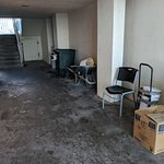 This is the breezeway between front desk and pool. Pretty bad.