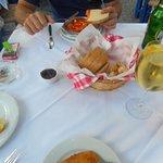 starters, shrimp saganaki and saganaki fried cheese
