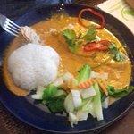 Saumon au Curry Rouge