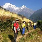 group photo before start trek