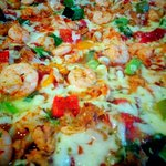 Sea food pizza (all ingredients from Italy)