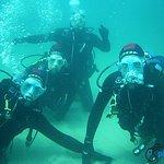 Bautizo de submarinismo. Foto a 6 metros de profundidad.