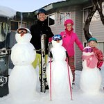 Snowman competition. Make your snowman at the Sundeck!