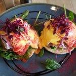 Eggs Royal (salmon & spinach)