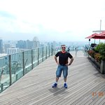 VIEW OF MARINA BAY SANDS SKYPARK OR OBSERVATORY DECK, MAY 2018.