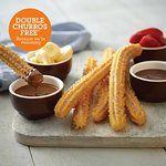 Churros for two with strawberry & Banana