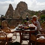 Breakfast terrace with AMAZING views