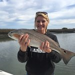 Big Redfish caught on 3 hour inshore charter on the HotFun