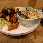 Turkey brochette & rice