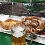 Bier garden food