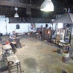 Vista del taller artesano