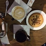 coffee and peanut cookie