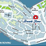 How to get to the Break Time shop in Rovinj, Istria. Original souvenirs from Croatia.