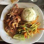 Curry & coconut shrimp