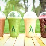 We also do the finest smoothies, using Alchemy Juice Co recipes