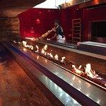 T-Rex open BBQ pit