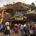 You can just see the line out the door at T-Rex