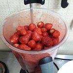 Préparation sorbet fraise gariguette
