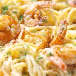 Shrimp Pasta carbonara