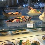 Kind Japanese tradition - models of dishes.