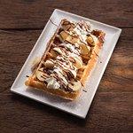 waffle banana whip cream