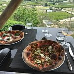 Great pizza, terrific views and excellent wine